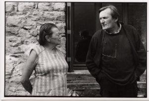Avec Odette Blanc-Gras, chanteuse des Renveillés d'Orcières